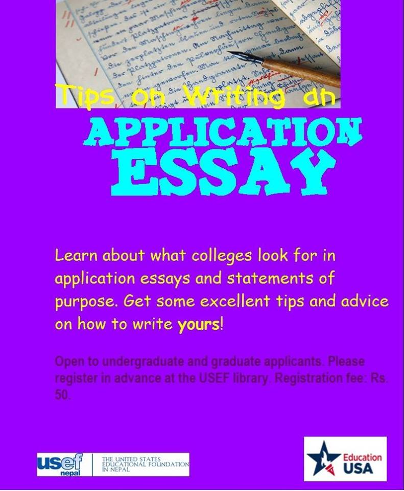 application essay tips A college essay is an important piece of a college application and an opportunity for students to show an admission committee what makes them a good candidate.
